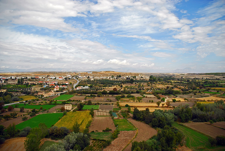Landschaft in der Region Granada, Orce
